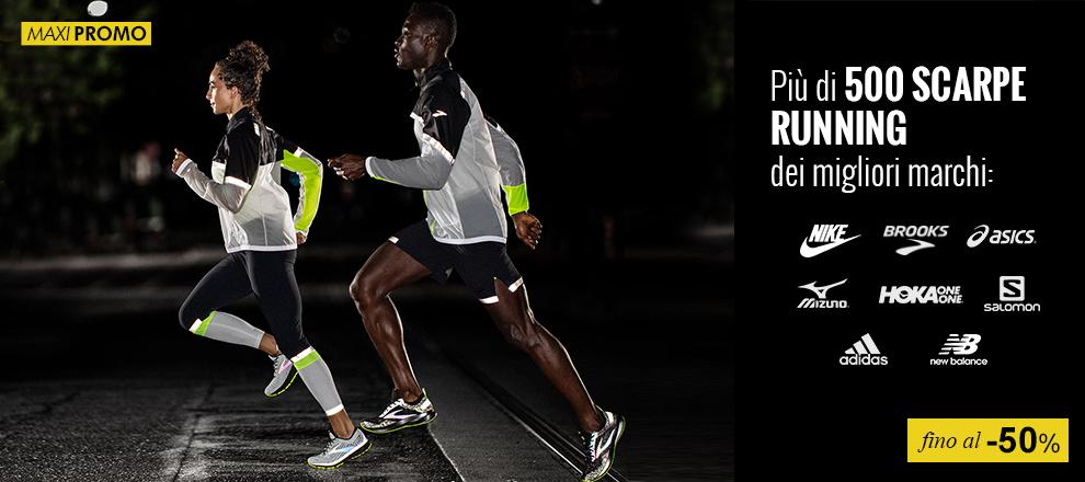 Scarpe running fino al -50%