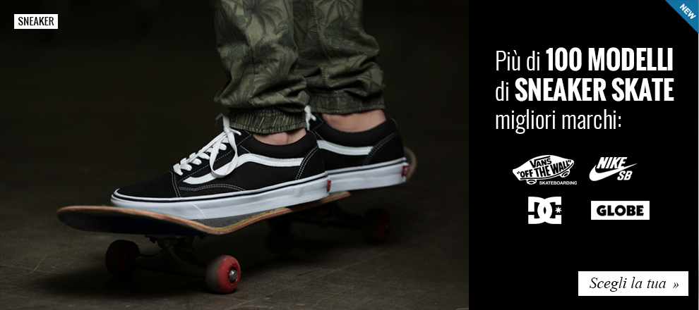 Nuova Collezione Sneaker Skateboarding dei migliori marchi